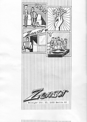 Zensor Anzeige